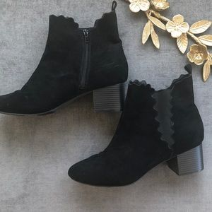 Lane Bryant suede chelsea ankle boots booties